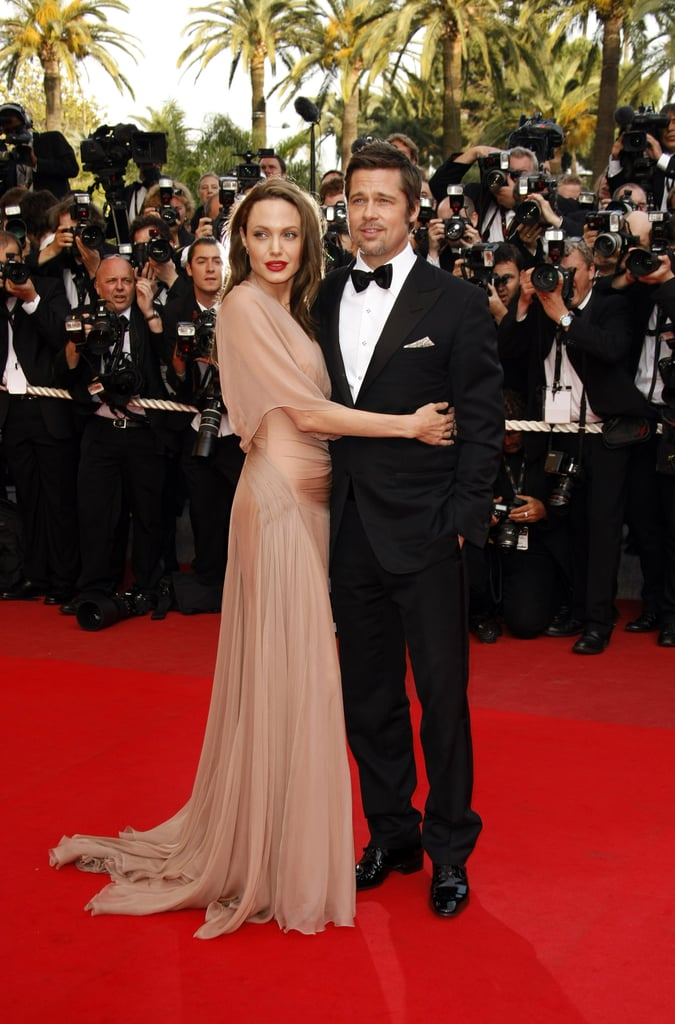 Angelina Jolie embraced Brad Pitt at the Inglourious Basterds premiere during the 62nd International Cannes Film Festival in 2009.
