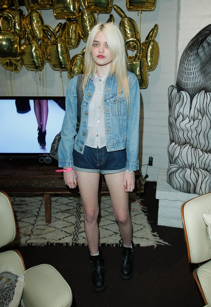 Sky Ferreira kept it basic with cool denim separates, but we love that she mixed it up with different washes.