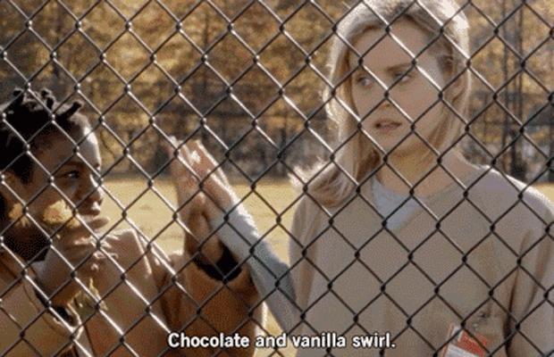 Because of chocolate and vanilla swirls.