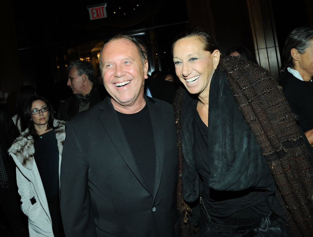 Michael Kors talked with Donna Karan at the premiere's afterparty.