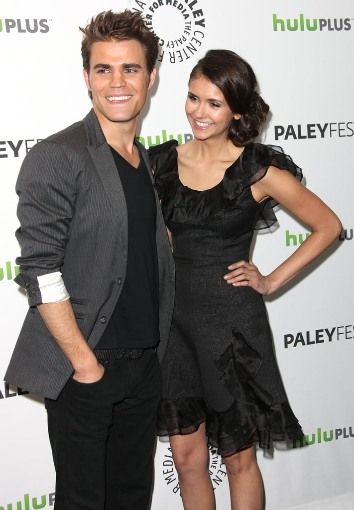 Paul Wesley and Nina Dobrev posed for photos.