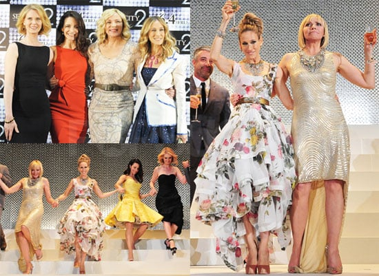 Pictures of Sarah Jessica Parker, Cynthia Nixon, Kim Cattrall, Kristin Davis Promoting SATC2 in Japan