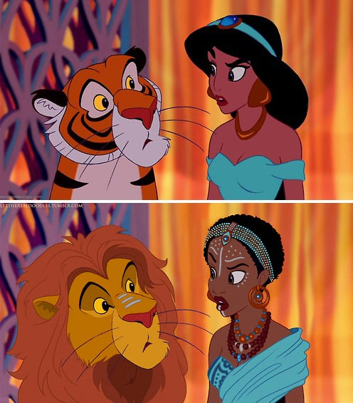 Jasmine as a Different Race