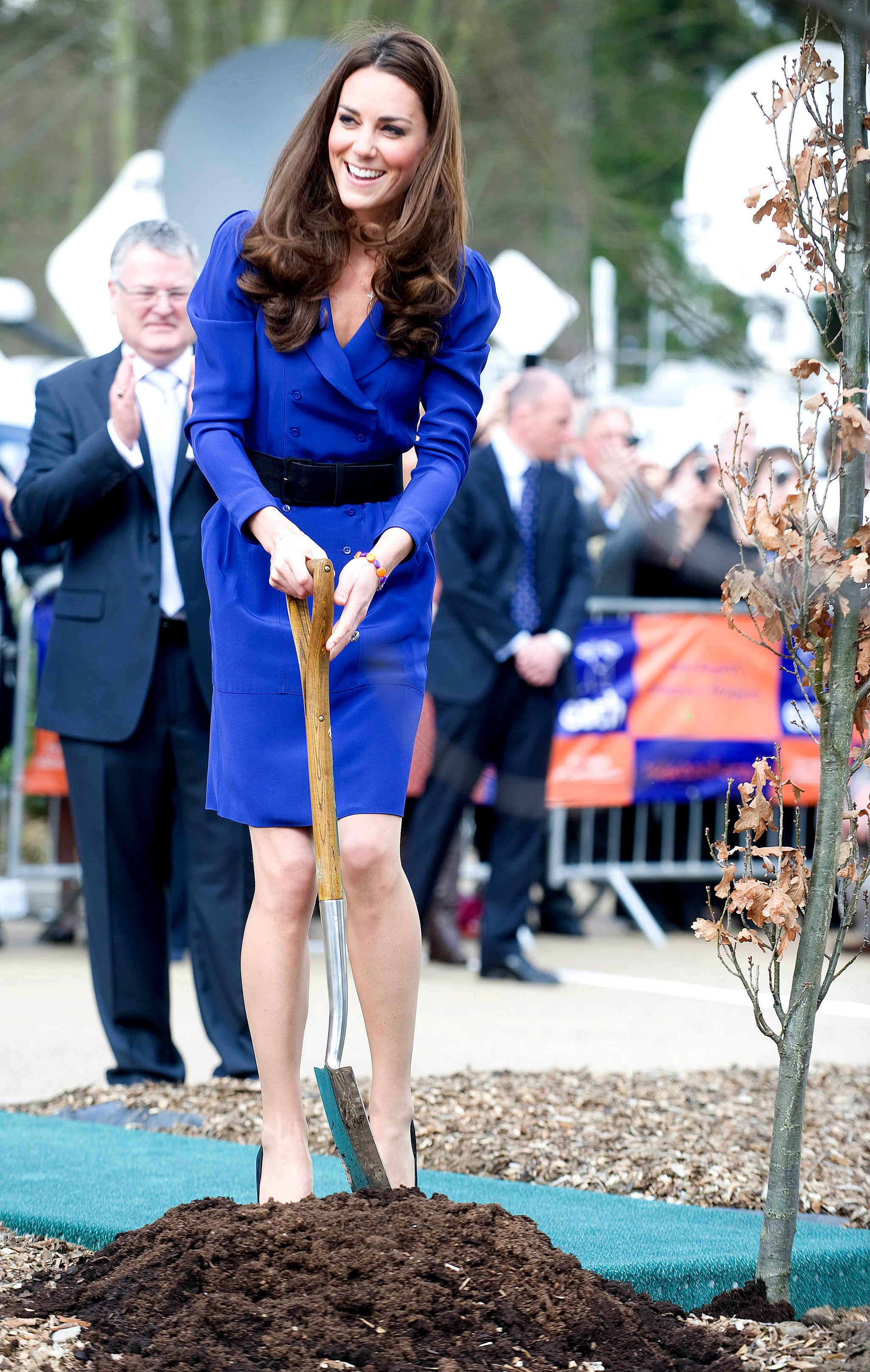 April 24: Tree Planting On their second-to-last day of their tour, Will and Kate will visit the National Arboretum, where they will plant trees and meet with local children and their parents. Before this, the couple will visit the National Portrait Gallery and then Parliament House, where William will give a speech. April 25: Goodbye, Australia (and Yes, More Trees) Before leaving Oz, Will and Kate will attend the ANZAC Day March and Commemorative Service at the Australian War Memorial, where they will — you guessed it — plant some more trees in the memorial garden. After saying goodbye to their hosts, the family will depart from Defence Establishment Fairbairn, Canberra, for London. Source: David Crump/AFP/Getty
