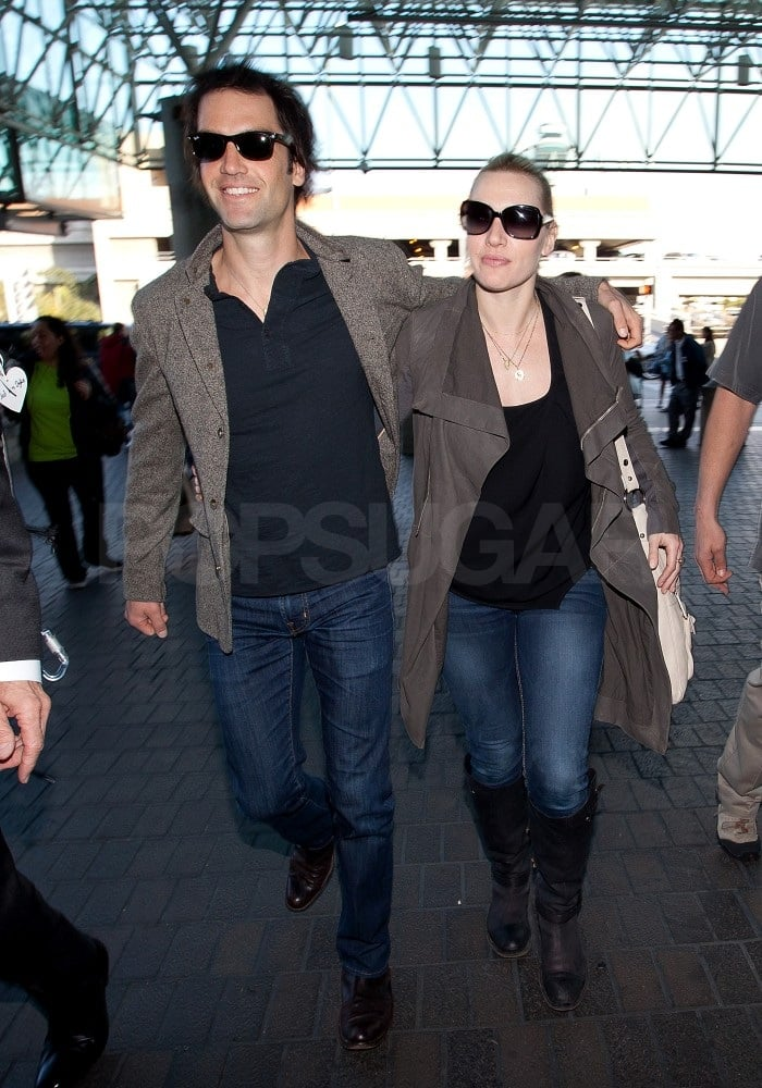 Kate and Ned caught a departing flight out of LAX on Monday.