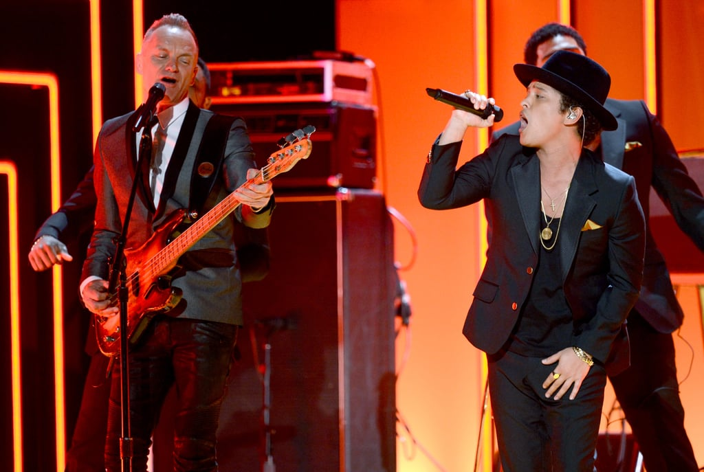 Bruno Mars performed with Sting.