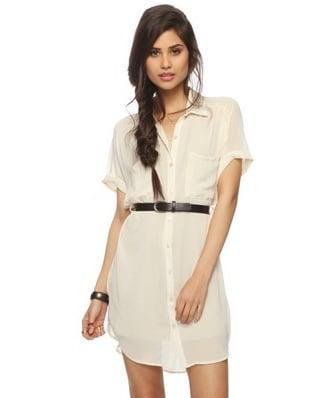 Forever 21 Sheer Georgette Shirtdress Belt ($25)