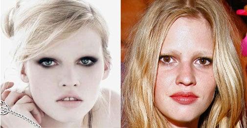 Lara Stone's Eye Color Changed For Prada Ad