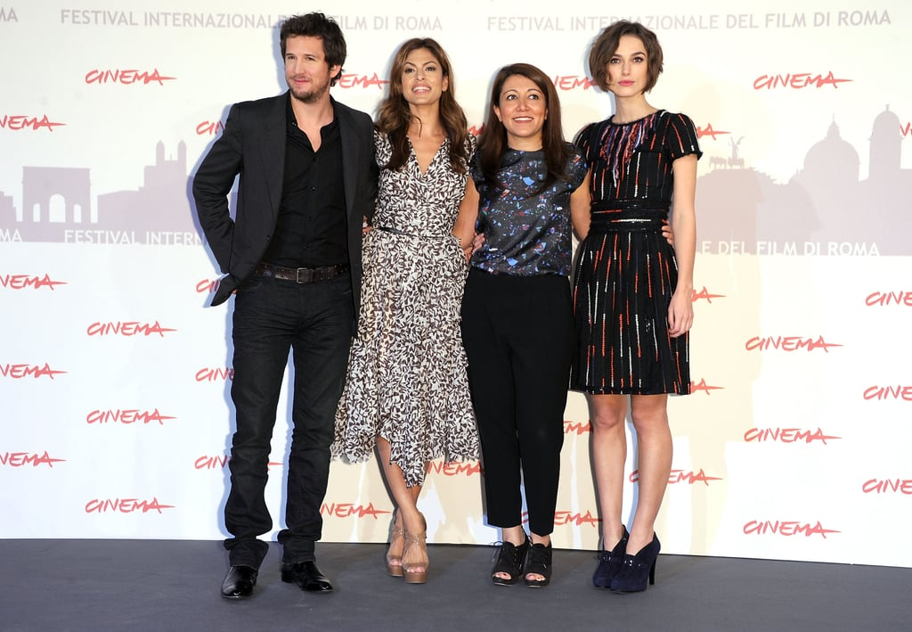 Keira Knightley and Eva Mendes at the Rome Film Festival