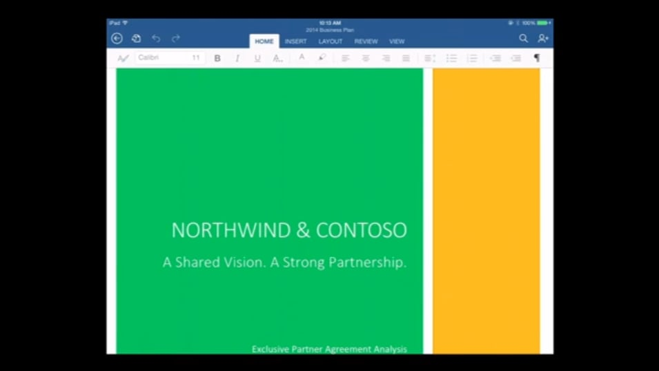 Word, Office For iPad