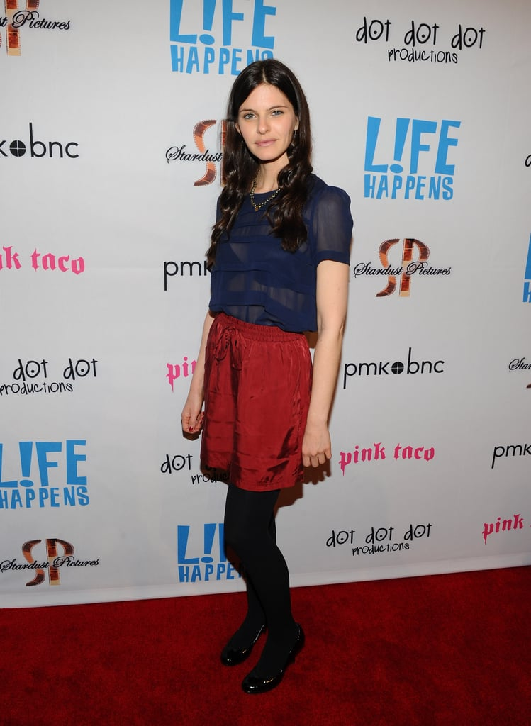 Lindsey Kraft posed at the premiere of Life Happens.