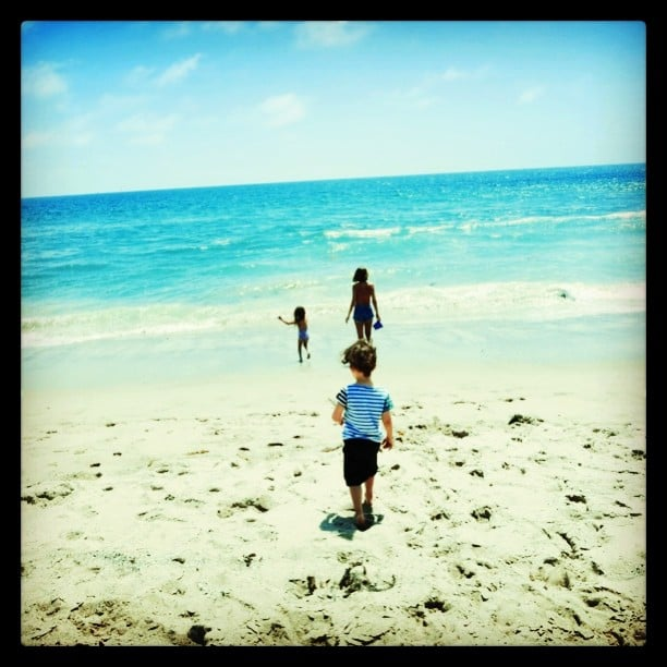 Nicole Richie hit the beach with her kids, Harlow and Sparrow Madden. Source: Instagram user nicolerichie