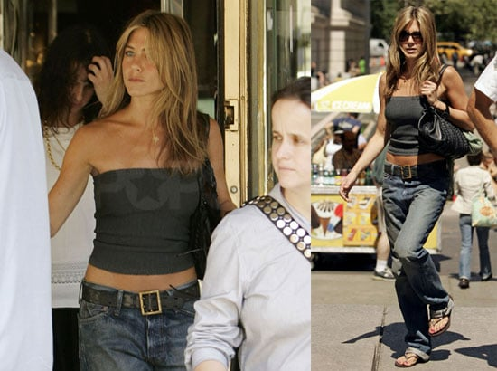Photos of Jennifer Aniston Wearing Baggy Jeans in NYC