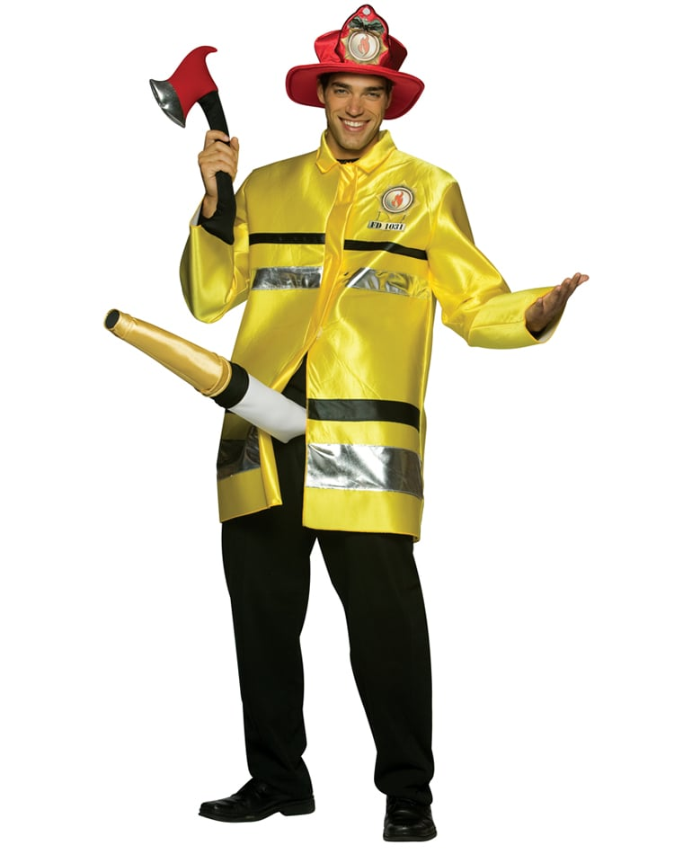 Firefighter With Big Hose