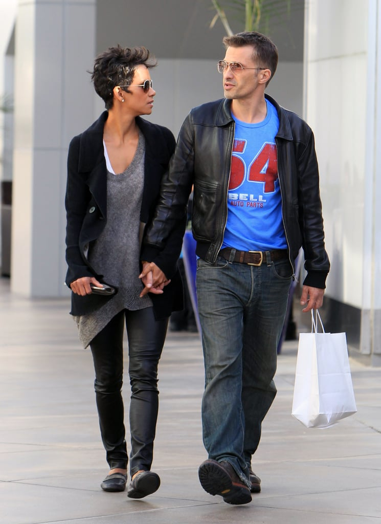 Halle Berry and Olivier Martinez held hands while taking a stroll together in April 2012.