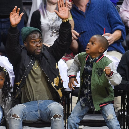 Kevin Hart and His Kids at an LA Clippers Game Nov. 2015