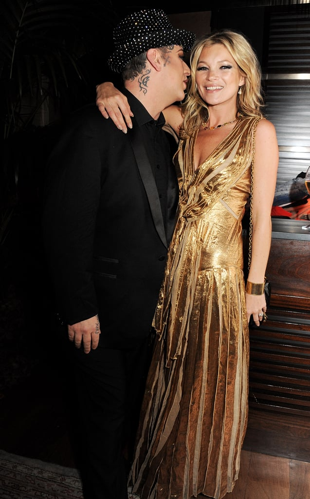 Kate Moss partied with Boy George in London.