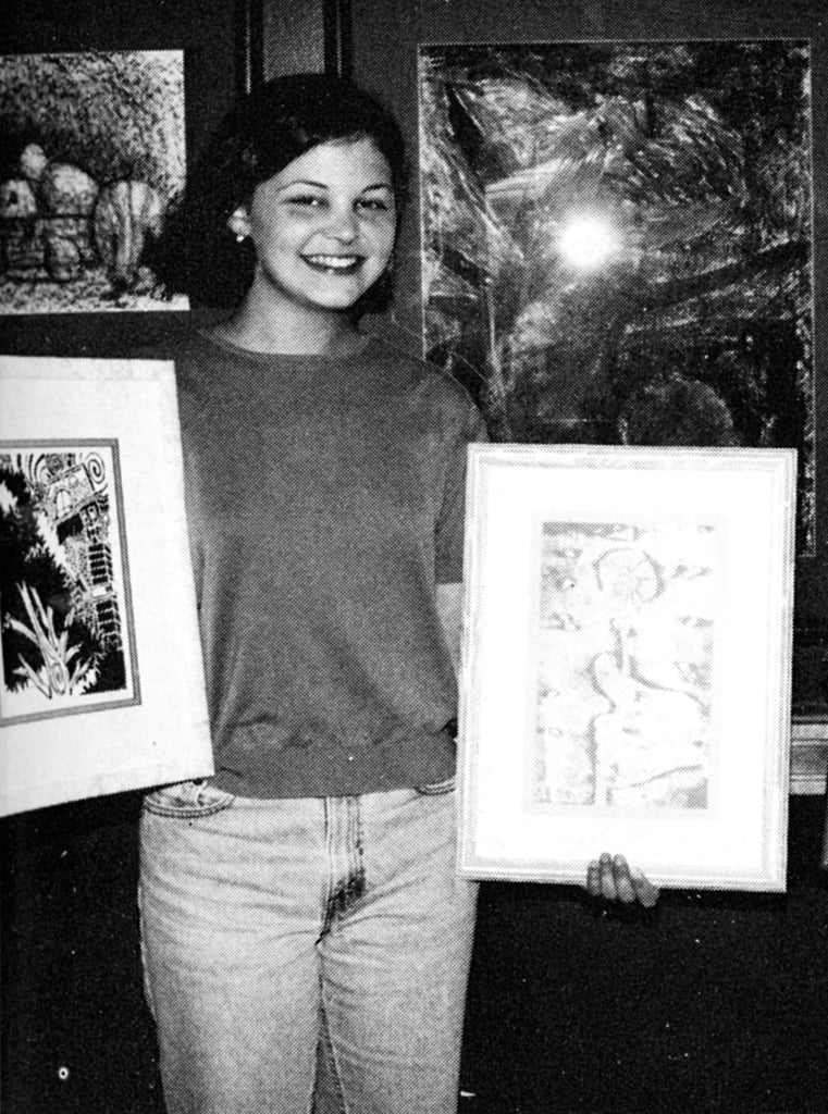 Ginnifer Goodwin showed off her artsy side in high school.