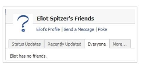 Eliot Spitzer, Friends: 0