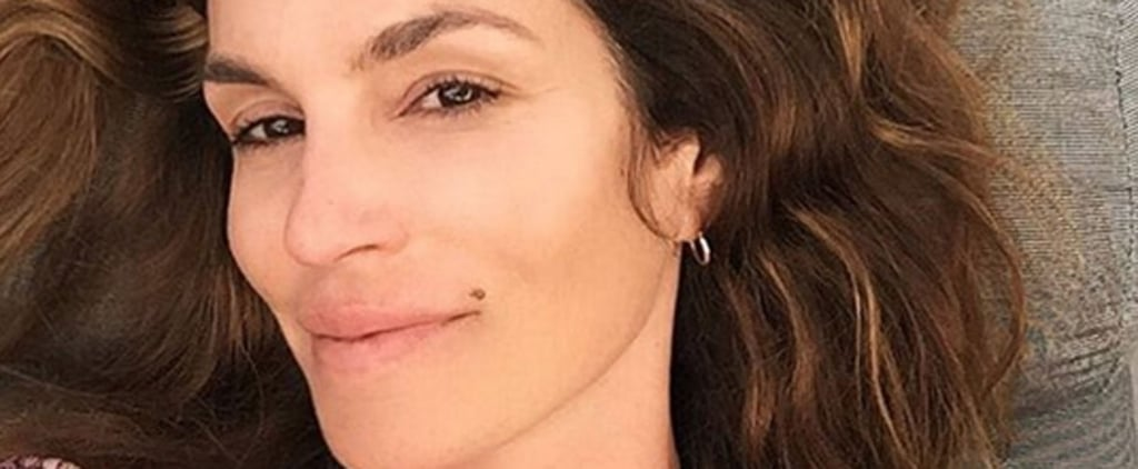 Cindy Crawford Rings In Her 50th Birthday With a Gorgeous Makeup-Free Selfie