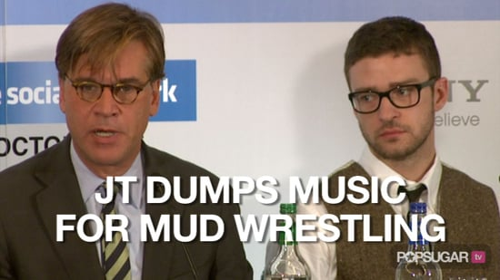 Video of Justin Timberlake on His Next Album and Naked Mud Wrestling 2010-10-08 14:35:36