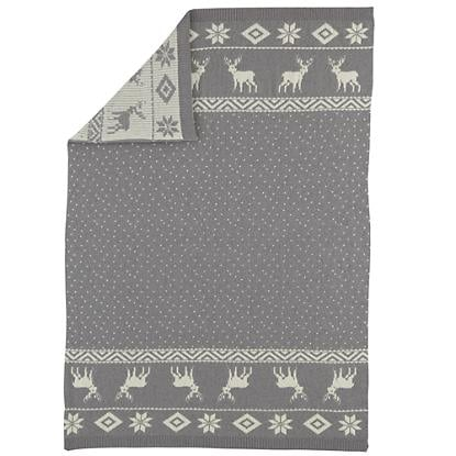 The Land of Nod Moose Throw Blanket