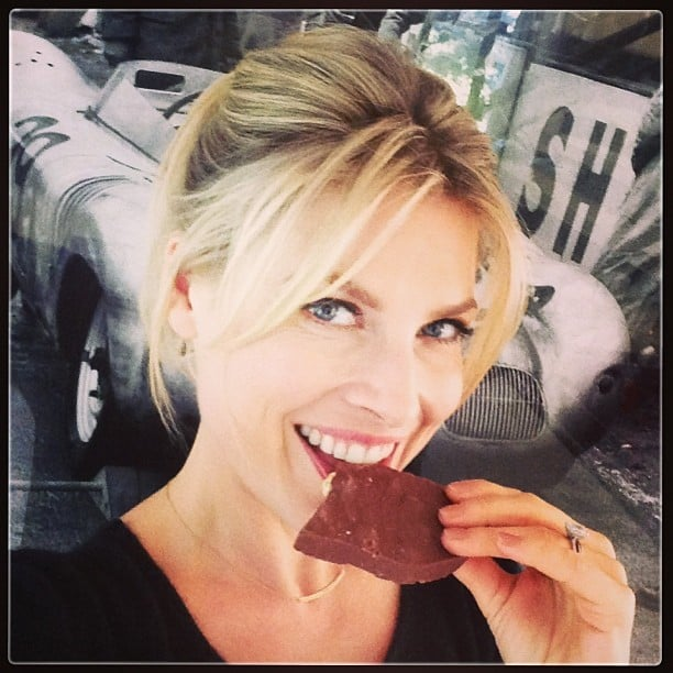 """Ali Larter snapped this selfie with the caption, """"When husbands drive you nutty, eat a big chunk of chocolate!"""" Source: Instagram user therealalil"""