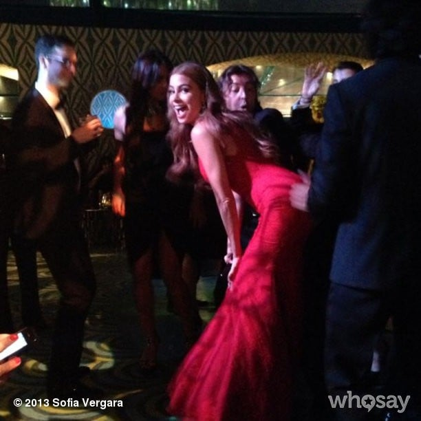 Sofia Vergara twerked with a pal at an afterparty. Source: Instagram user sofiavergara