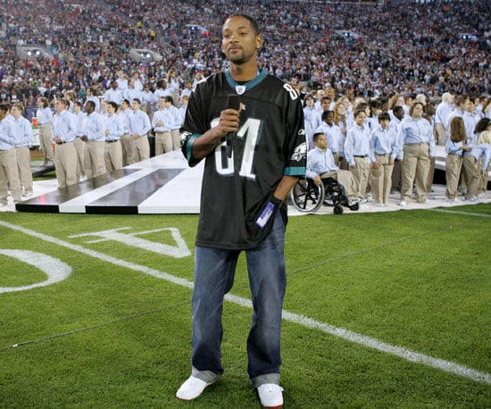 Will Smith introduced Alicia Keys, who sang the national anthem in 2005.