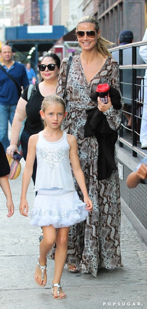 Heidi Klum stepped out in NYC with her daughter Leni Samuel on Sunday.