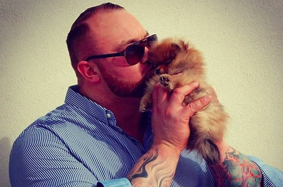 "The Mountain From ""Game Of Thrones"" Has A Ridiculously Small Puppy And It's Adorable"
