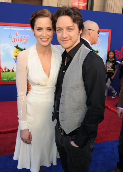 Pictures of James McAvoy and Emily Blunt at Gnomeo and Juliet Hollywood Premiere