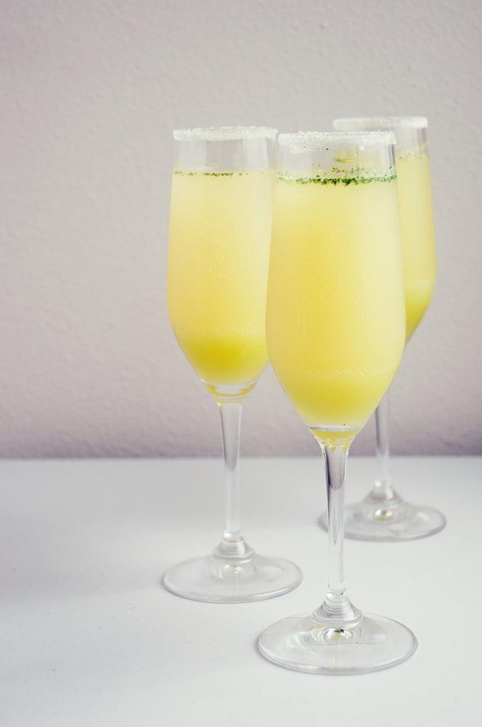 Limoncello-Mint Champagne Cocktail