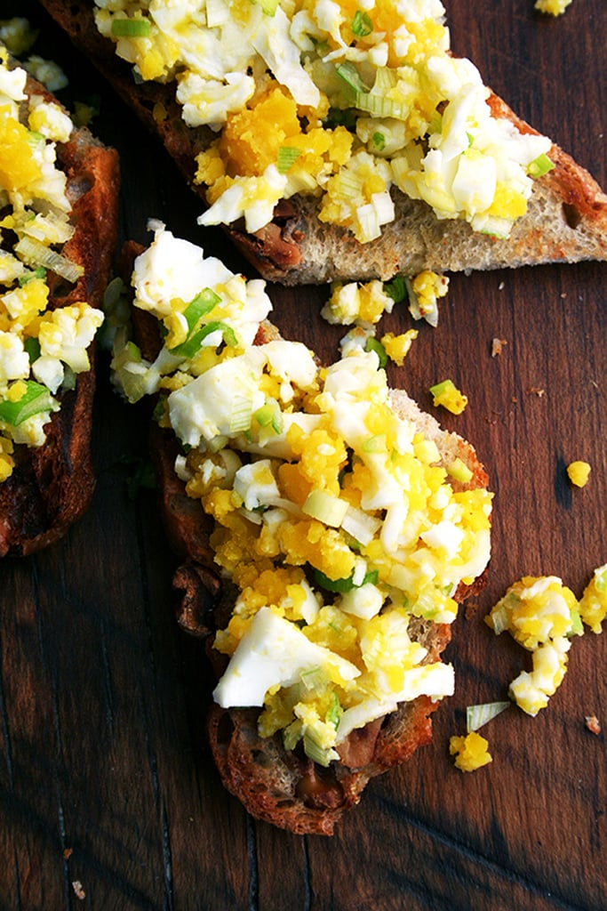 Hard-Boiled Eggs on Toast With Bagna Cauda