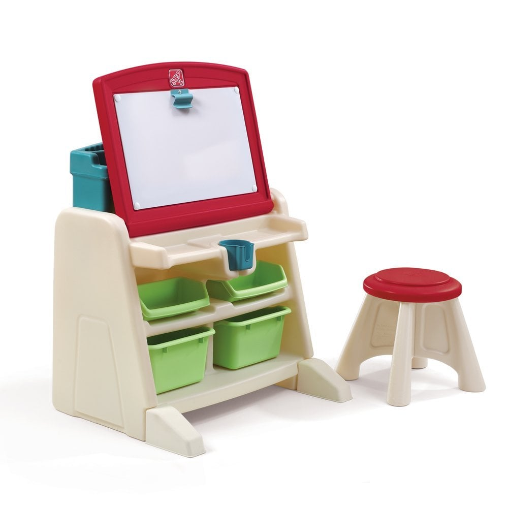 For 2-Year-Olds: The Step2 Company Flip and Doodle Desk With Stool Easel