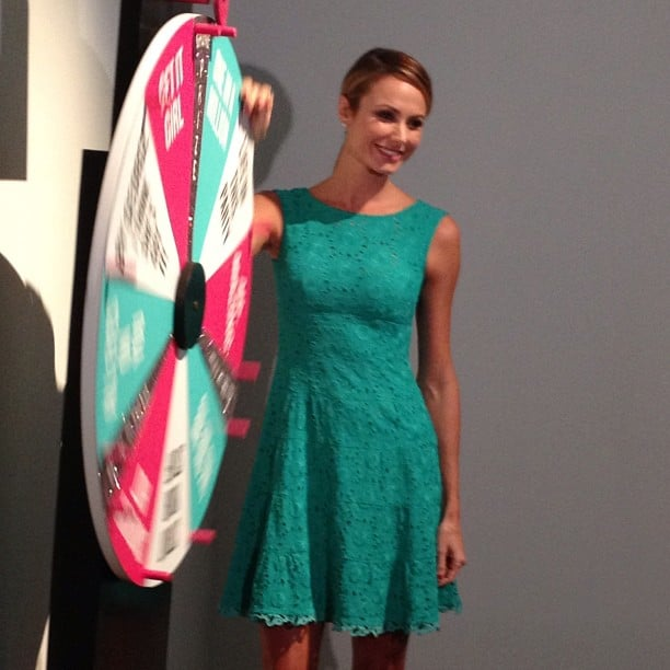 The always gorgeous Stacy Keibler was spinning the wheel of fashion fortune at a Rent the Runway party.
