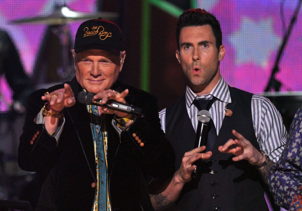 Mike Love and Adam Levine performed together.