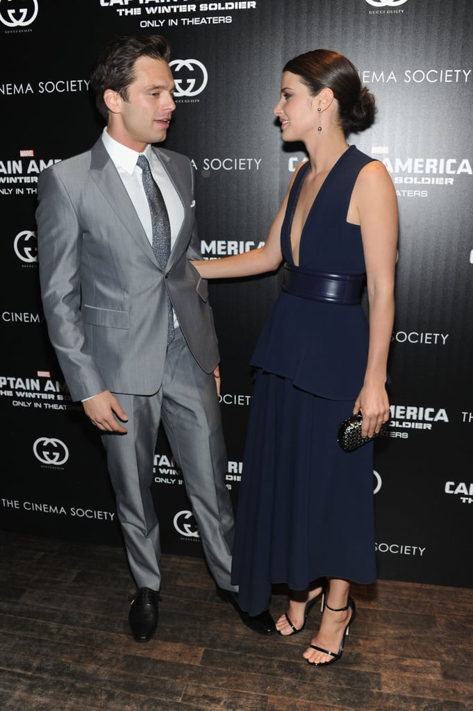 Cobie chatted with Sebastian.
