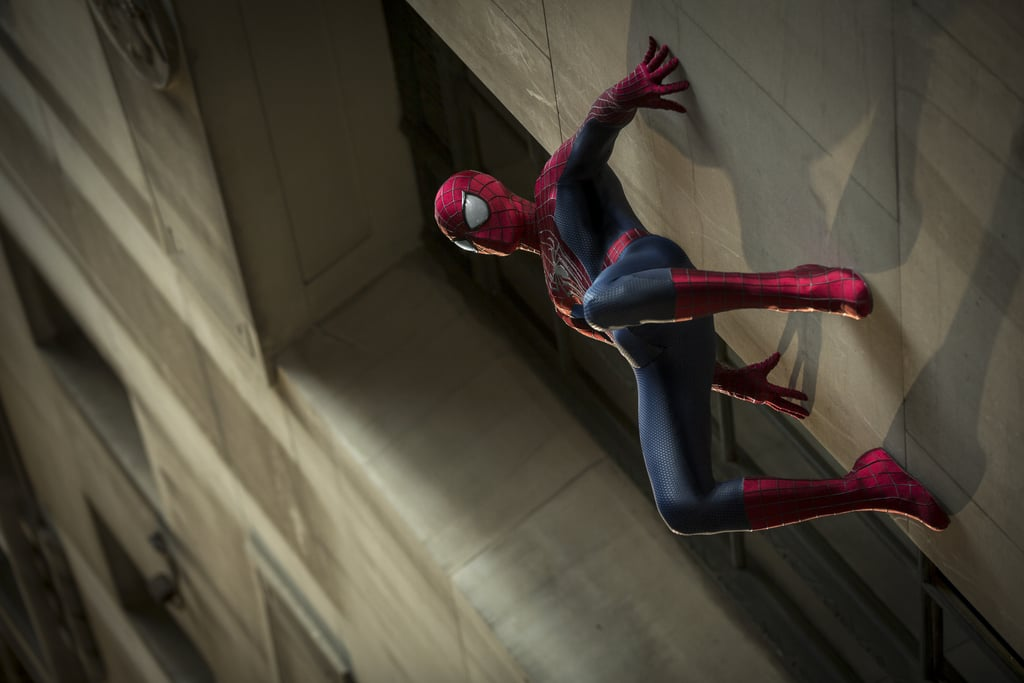 Andrew Garfield as Spider-Man in The Amazing Spider-Man 2.