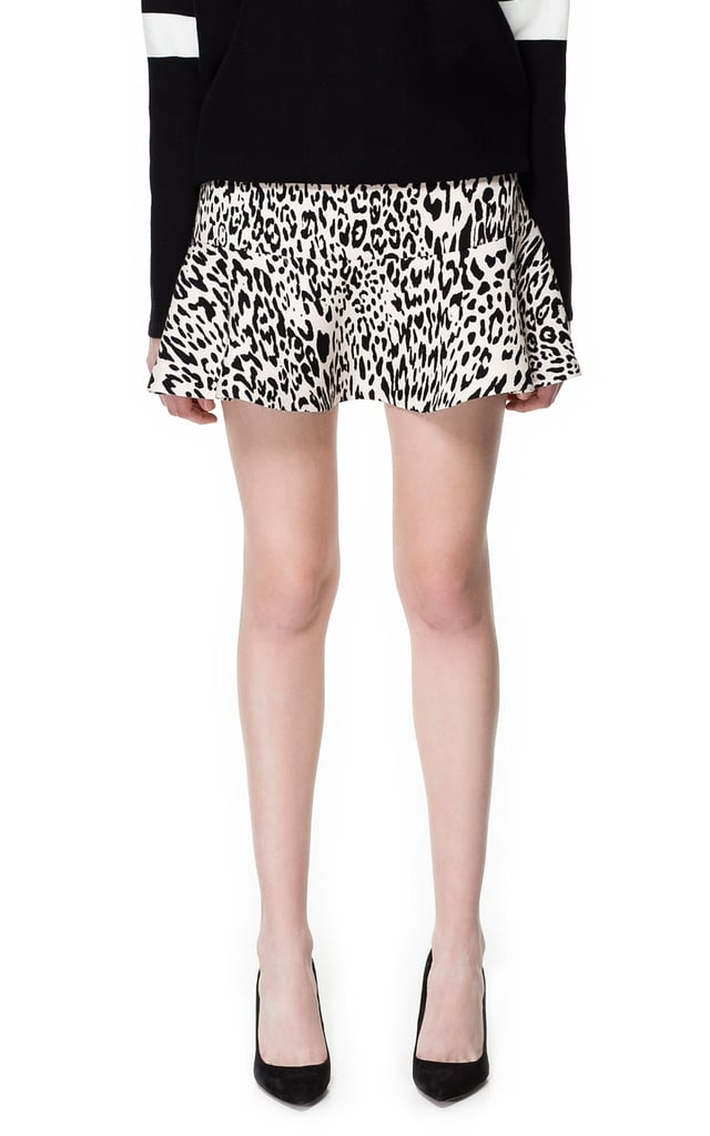 Zara's animal-print miniskirt ($60) is perfect for your next rooftop party.