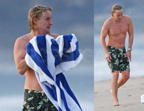 Owen Wilson Goes for a Swim in Malibu