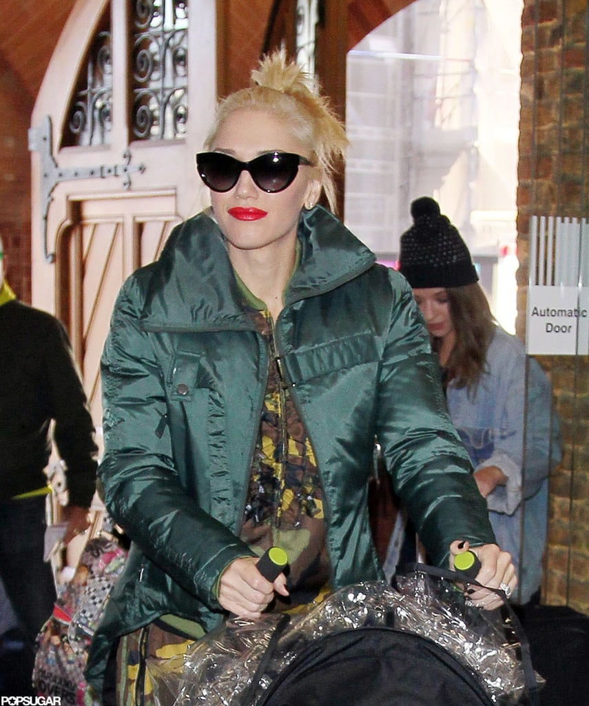 Gwen Stefani sported a pair of sunglasses in London.
