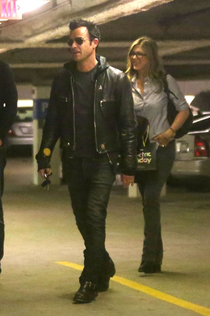 Justin Theroux and his fiancée Jennifer Aniston had a little shop at Barney's in New York on December 8.