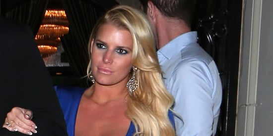 Jessica Simpson Is A Vision In Blue On Date Night With Husband Eric Johnson