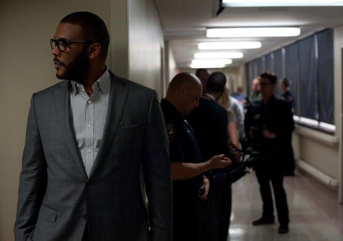 Tyler Perry plays lawyer Tanner Bolt.