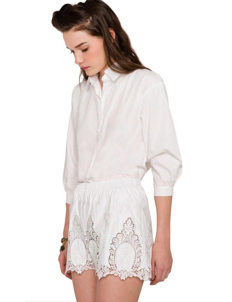 Pixie Market White Crochet Shorts