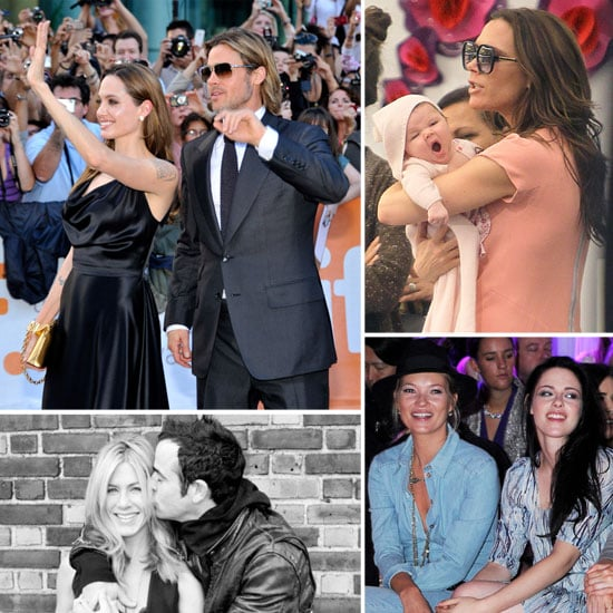 Brad and Angelina's Premiere, Posh and Harper's Fashion Week, Jen and Justin's Love: The Hottest September Headlines!