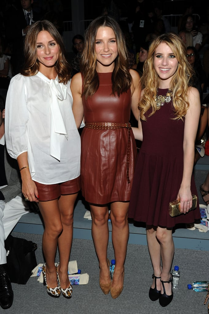 Olivia Palermo, Sophia Bush, and Emma Roberts looked fabulous while front row for Tibi's September 2011 show.