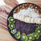If you love coconut, use coconut milk or water in the smoothie base and for added texture, sprinkle your acai bowl with rich and delicious coconut flakes.