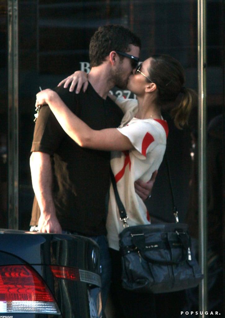 Justin Timberlake kissed Jessica Biel in LA back in August 2008.